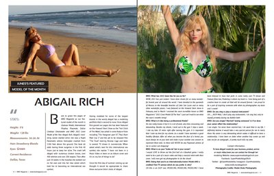 Abigail Rich, Glamour Model Tear sheets