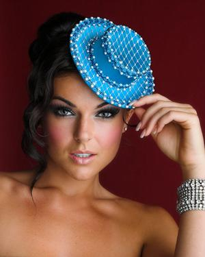 House of Nyla - mini hat - Model - Serinda Swan (Franco Valerio)