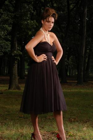 Full length view - black strapless dress -  (Stanley Debas Photography)