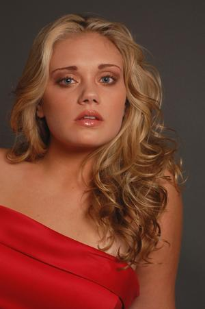 Closeup - Red Gown - Makeup and Hair by Karen E. Duncan (Stanley Debas Photography)