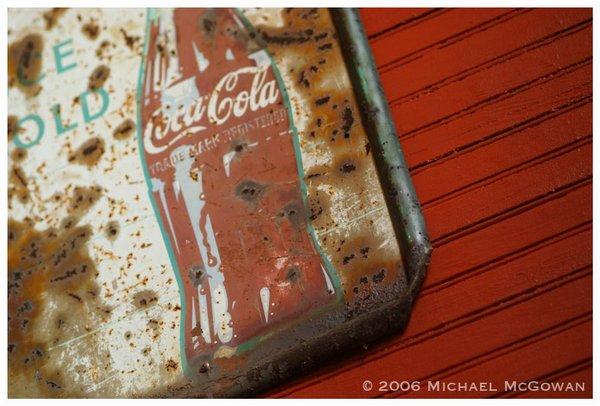 The sign Michael McGowan by Michael McGowan