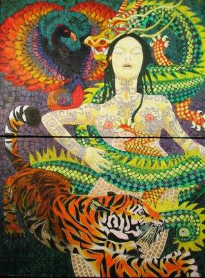 Dragon and Lady  by R. Mendoza-Cortissoz
