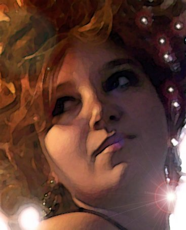 Painting with Lights in Her Hair photo and effects by Antonio Cassone by Antonio Cassone