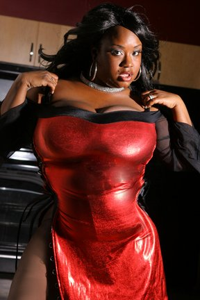 Sexy In Red Nubian Studios-Oakland Ca 2008 by ThickChocolateModel