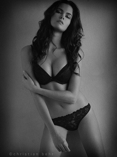 Adrienne In Lingerie fun shoot with a goddess.