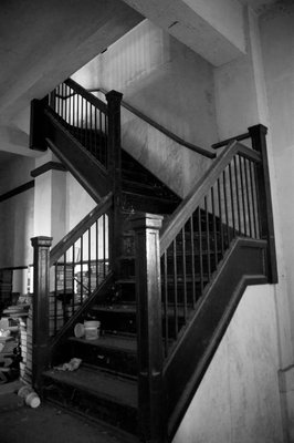 Stairs Staircase in an abandoned bank.