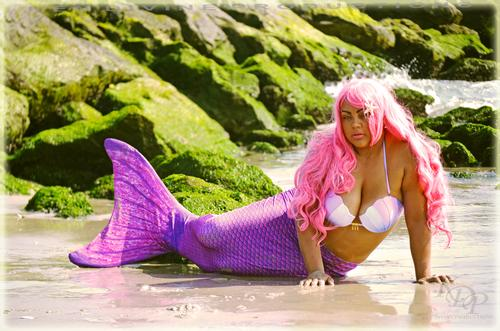 Zhamedra the Mermaid Model Zhamedra during the 10th Annual KDP Beach Shoot.