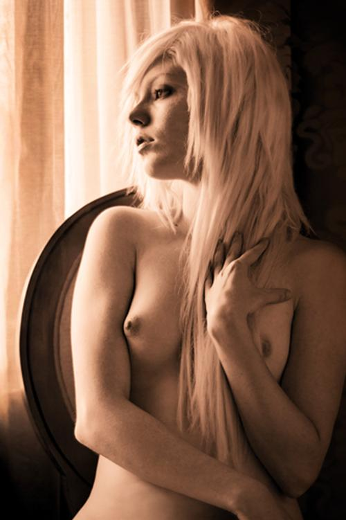 Sepia Blond Classic pose in window light. Transcendent; transcendenttuesday; transformationtuesday; Translucent; transparent; Young;