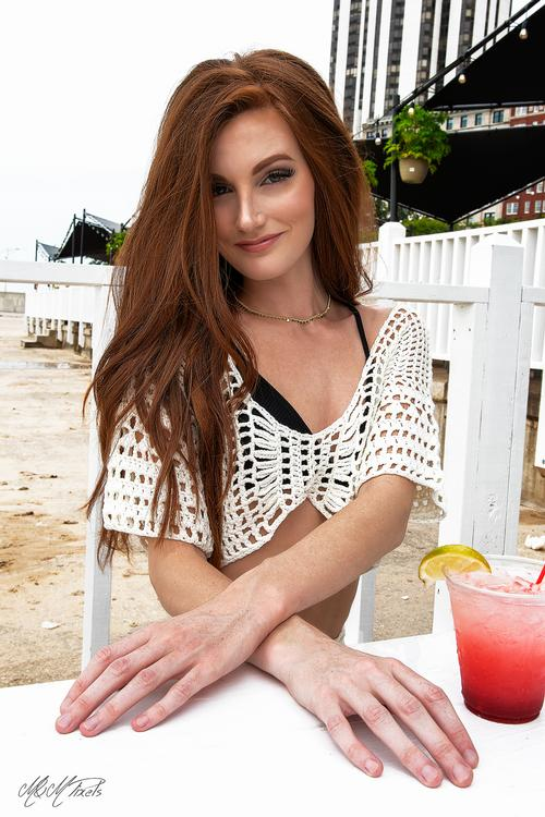 """Drinks by the beach Me and <a href=""""/meredith"""">@meredith</a> _hanna_ stopped for a drink at oak street beach in Chicago and took some candids before a shoot."""