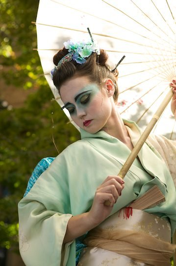 Geisha my work concept makeup hair  wardrobe