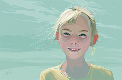 one such as these Portrait of Janell created with Adobe Illustrator