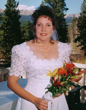 Bridal Portrait Bridal Portrait taken from balcony of Bed & Breakfast, Breckenridge, Colorado