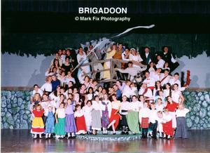 Brigadoon Cast Picture On stage theatrical production cast picture.