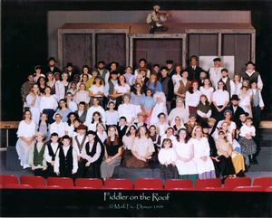 Fiddler on the Roof Theatrical Production, cast picture.