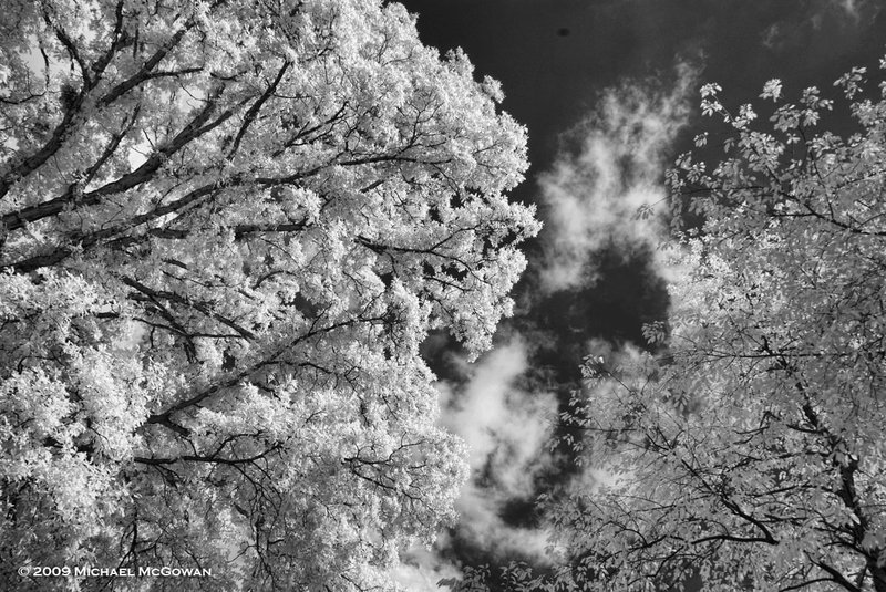Ohio sky Testing a new infrared camera