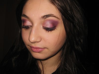 Mac purple and pink makeup