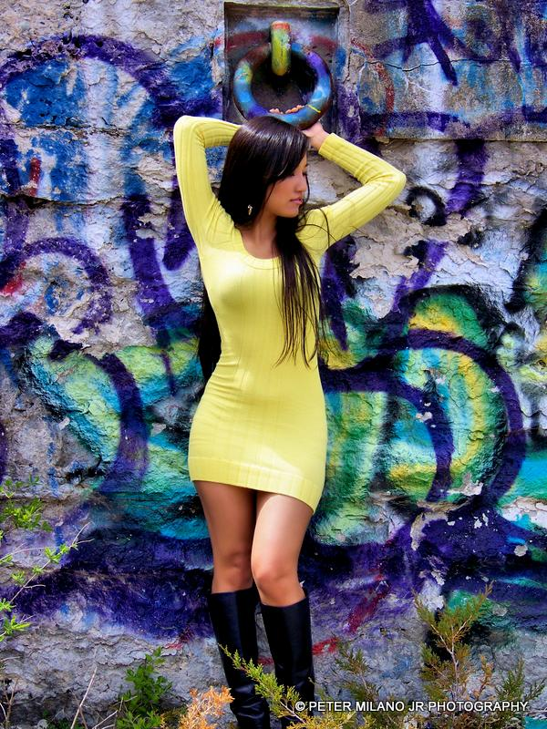 Kathy1 Photoshoot with Kathy. #beautiful      #sexy     #hot     #woman     #graffiti     #yellow    #female   #RhodeIsland