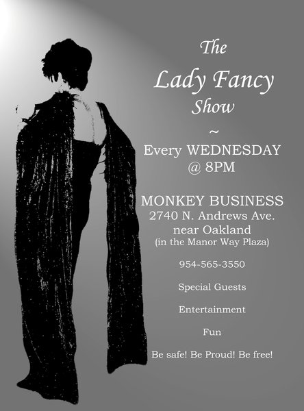"Old Poster for The Lady Fancy Show Old Poster for ""The Lady Fancy Show"""