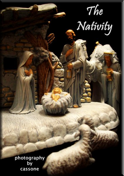 The Nativity II (2010) from CHRISTMAS IN JULY 2010 feature of Decorations and Designs by D. Paul Miller, AIFD with Bob Drews and David Paul Miller