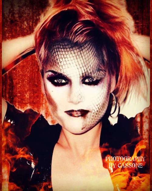 Glam Rock Model: Anya Allen Original Makeup and Styling by Kevin Dunwoody