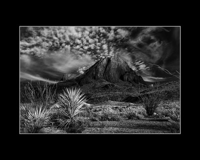 Mystic Mountain Taken for my infrared portfolio near Terlingua, Texas
