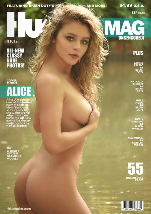 hunnie dolls cover cover of hunnie dolls magazine shot by me of playboy plus model alice antionette