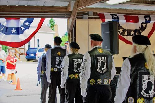 Vietnam Wall Ceremony The Wall That Heals Event in Crivitz, Wisconsin - 2018.  Rolling Thunder Honor Guard