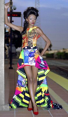 Furonda, America's Next Top Model 1980's Versace, Stylist: Dionna Harris, The Styling Agency, MUA Kathy Obot, Kase Cosmetics, Model: Furonda, America's Next Top Model.  Location: Santa Ana Train Station, Santa Ana, CA