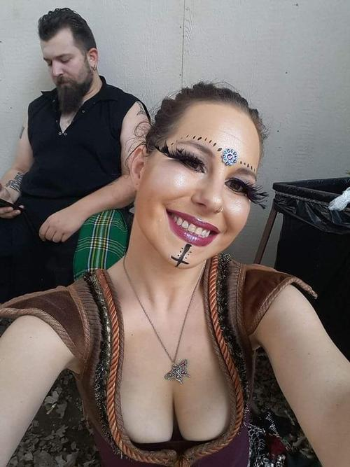 "The Eyes Have It <a href=""/tags/?tag=makeup"">#makeup</a>  <a href=""/tags/?tag=stageperformer"">#stageperformer</a>  <a href=""/tags/?tag=renfest"">#renfest</a>  <a href=""/tags/?tag=romanimafia"">#romanimafia</a>  <a href=""/tags/?tag=lashes"">#lashes</a>  Photographer- myself"