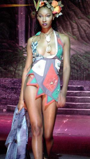 """Designs by Theodore Elyett I.D.A. Haute Couture Bahamian Fashion Designer Showcase 2004~~Model: Mary Watkins...also featured in """"Follow That Dream Fashion Show 05,"""" entered into """"The Canadian Designer Competition 04"""", """"Styled to Breathe Fashion Showcase 05."""""""