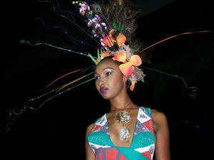 """Designs by Theodore Elyett Fashion Designer: Theodore Elyett~~I.D.A. Haute Couture Bahamian Fashion Designer Showcase 2004~~Model: Mary Watkins...also featured in """"Follow That Dream Fashion Show 05,"""" entered into """"The Canadian Designer Competition 04"""", """"Styled to Breathe Fashion Showcase 05."""""""