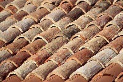 Roof tiles in Venice, Italy Detail of tile roof in Venice, Italy