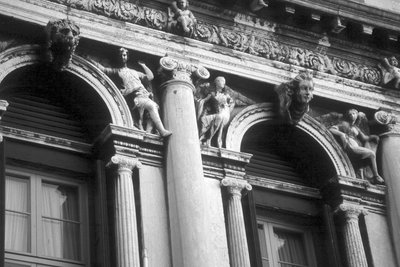 Architectural detail in Venice Ionic columns, architectural detail