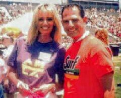 Susan Anton & Valentino Beverly Hills Ca. Celebrity Softball Game