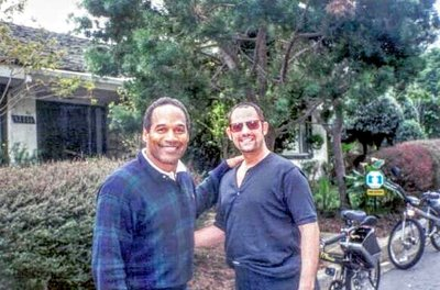 "O.J Simpson & Valentino The Good Old Days...Our Regular Sunday Morning Bike Ride with ""The Juice"" Roxbury Drive. Brentwood, Ca. Check out our Matching Bikes"