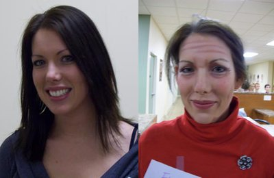Before and After Old Age Make Up