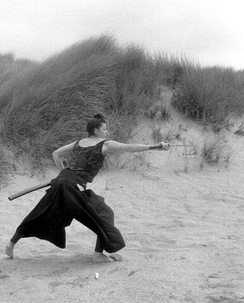 Iaido Practice Shot  in the Dunes of Gazoz Beach