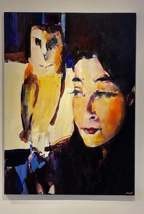 Yvonne and Tiger Lily 2021 Fine art oil painting on canvas by amazing Eugene artist Adam Grosowsky
