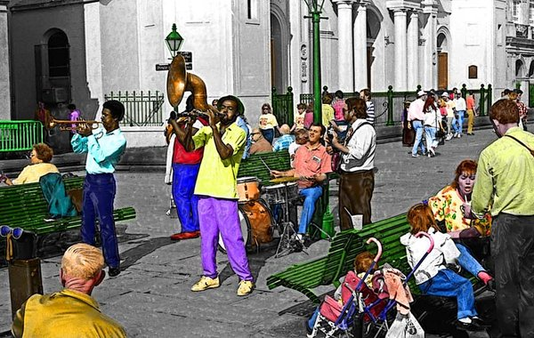 French Quarter  street band