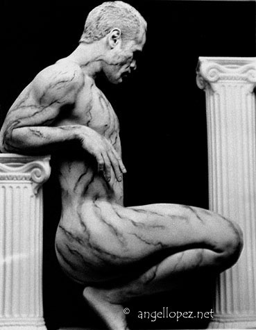 Marble Statue Photography  by Segio Bonilla, Make-up by Mario Duran