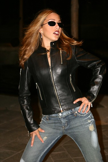 Strike a Pose Clothes by West Coast Leather, Jeans by Ella Bleu, Makeup by M.A.C. Cosmetics