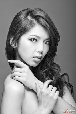 Portrait Black and White Black and white portrait of a young Asian woman