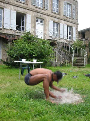 Pound the Earth From  a live site specific performance in Les Sylvans, France