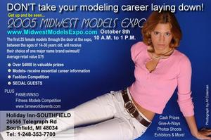 Don't take your modeling career laying down promotional item fdor the expo.