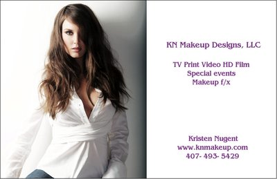 Kristen has 15 yrs. experience working full time as a professional production makeup artist in TV, print, video, High-Definition, sports, film, corporate and special events. Airbrush makeup artist ... she is very experienced in Hi Def, studio lighting, camouflaging imperfections & highlighting features. From beauty to glamour, men's grooming, sports, editorial, fashion, lifestyles, commercial, runway ...  Makeup f/x: application, coloring & removal of prosthetics, bald caps, burns, cuts, bruises, injury f/x & sickness...   Have passport, will travel! Other countries worked: Vancouver BC, Canada, Beijing, China, Hong Kong, China (4x), Belize, Curacao, Antigua, Philippines, Barbados, Dominican Republic, Bahamas (3x), Mexico (2x), Bermuda.  Some of my clients: NBC Olympics 2008/2010, Ricoh, SAP, Nike, Fox, ABC, QVC, NFL Network (Super Bowl shows), Gillette, Men's Fitness, Sports Illustrated, Fox Family Channel, EA Sports, Golf Channel, Access Hollywood, Ford, Coca-Cola, Avon, O Magazine, AT&T, Extreme Makeover, Rolling Stone Magazine, Kellogg's, Vitamin Water, Ocean Park (Hong Kong, China) and more…  Please see resume for full credits. Call for rates!  *Local 798, NYC Theatrical Artists