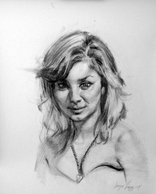 Shabnam 2.5 hour portrait in charcoal