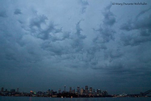 Sydney as the clouds roll in