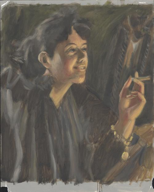 Girl with celery cigarette