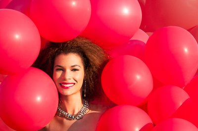 99 red balloons Rebekah with 99 red balloons beauty shoot