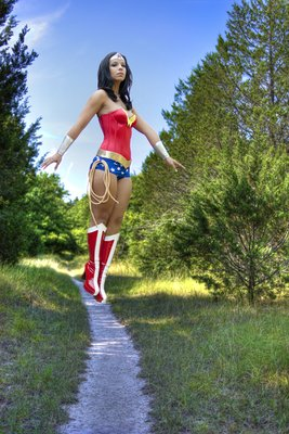 Wonder Woman 1 Wonder Woman in the woods
